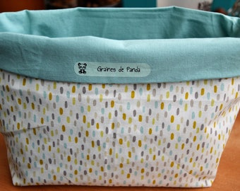 Reversible decorative basket baby or child's room