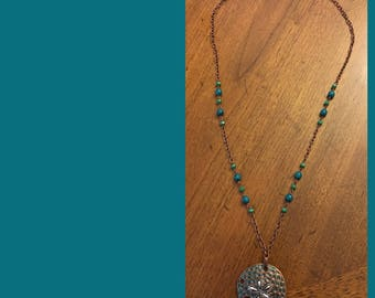 Boho Necklace with Shell Pendant