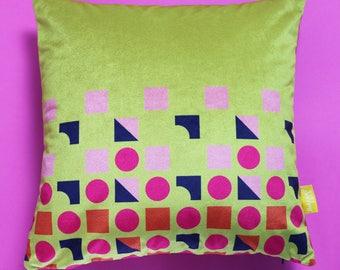 Mustard Geometric Cushion
