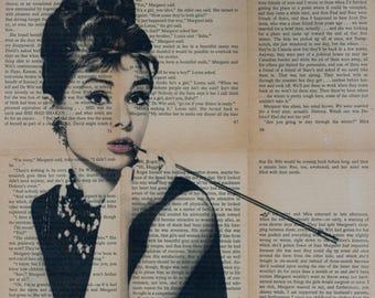 Audrey Hepburn Pop art, Breakfast at Tiffany Wall Art