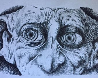 Dotwork/pointillism dobby