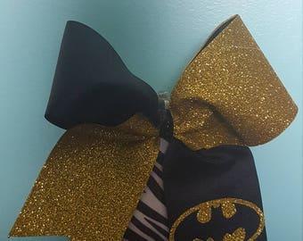 Batman tick tock cheer bow