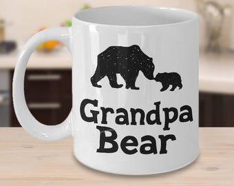 Grandpa Bear Mug - Gift for Grandfather - 11 oz or 15 oz Ceramic Coffee Cup