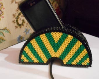 Holder for cell phone in Hama beads
