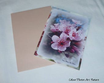 """Double 10 5x15cm made from a photo of prunus blossoms """"Spring Bouquet"""""""