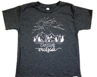 Kids Camping Shirt - Catch Me Outside