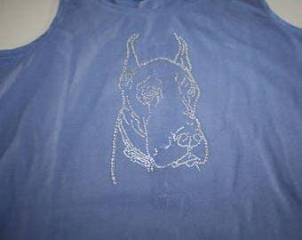 Great Dane rhinestone t-shirt