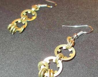 Star Washer Dangle Hook Earrings