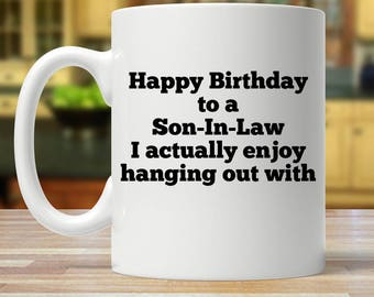 Son in law mug, Son in law gift, son-in-law gift, Son-in-law mug, son in law birthday, gift for Son in law, worlds best son in law