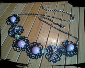 "Necklace prints ""BLUE"""