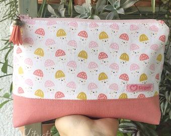 Cosmetic bag, vanity case jellyfish