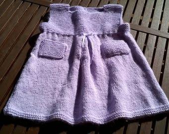 Lilac wool vest dress girl