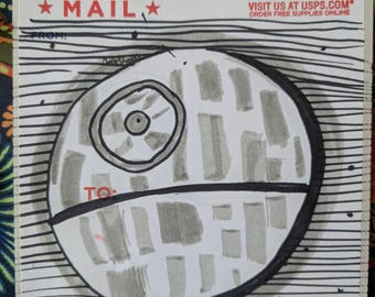 Hand drawn sticker of the Death Star (1of1)