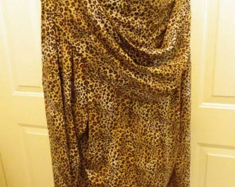 Cheetah Print Hooded Pull Over Tunic / Blouse
