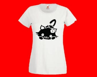 "printed t-shirt ""kitten '"""