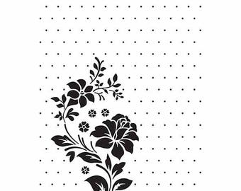 """Flower and polka dots"" embossing workbook 10.6 x 15 cm_VINF008"