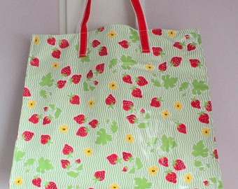 Oilcloth shopping bag-tote bag