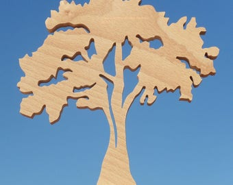 """""""Willow"""" base to stick with wooden tree wall decor"""