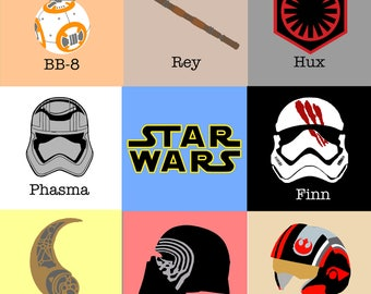 Star War - New Chapter NAMES Icon Graphic - Perfect for Creating your Own Geeky Girl Garb