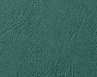 Hardback A4 for effect grain green leather binding