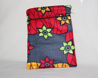 Fabric/African wax - HABANERA pocket for Tablet
