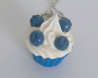 Necklace - Blueberry Cupcake