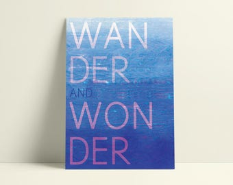Motivational Quote, Digital Art Print | Download & Print | Wander and Wonder