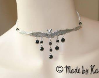 Black Goth Steampunk Vampire Choker necklace