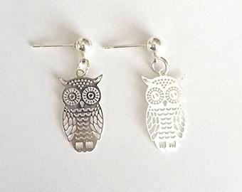 Filigree OWL charm earrings