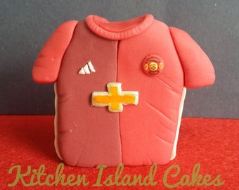 Football Shirt Edible Fondant Cake Topper - Manchester United
