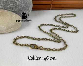 Necklace with lobster clasp, bronze, 46 cm
