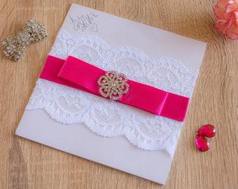 Handmade Wedding Invitations LaceRose