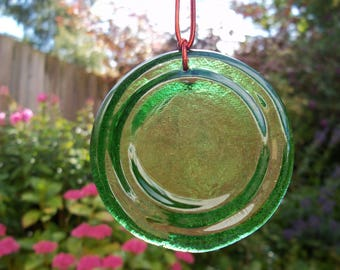 fused glass bottle bottom sun catchers