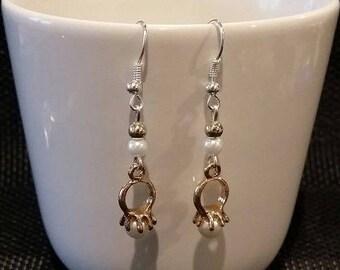 """Earrings """"Pearl ring"""" 4.5 cm"""