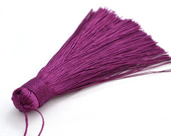 Pompom purple polyester 7-8 cm
