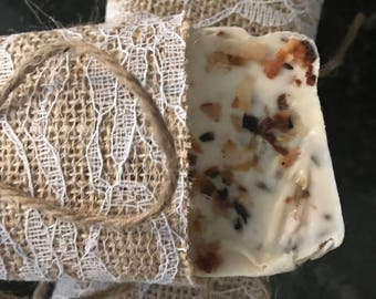 Vanilla and toasted coconut shea butter soap