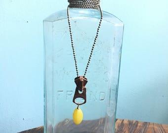 Artifact Zipper Pull Pendant