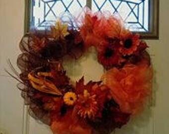 Handmade Fall or Summer Wreath