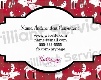 Thirty-One Gifts Business Card - Digital Download- Moosing Around
