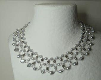 Necklace lace Pearl