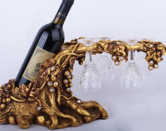 Resin Crafts ,Continental Vintage Wine ,Wine Cabinet Decorative Creative Wine Rack