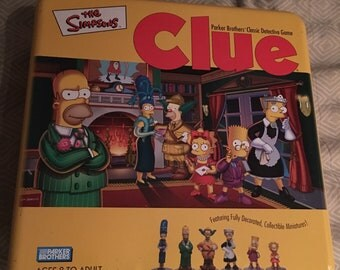 The Simpsons Clue Ltd Collectors Ed in Tin 2002 by Parker Bros Like-New CIB