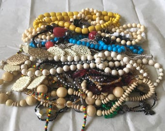 Z2, Vintage to now necklace lot, wearable, resell. Beaded, long, med, short