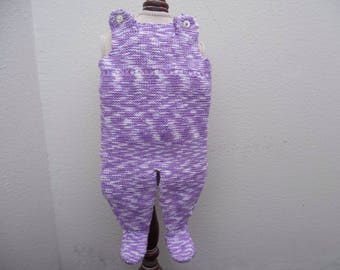 knit newborn girl romper
