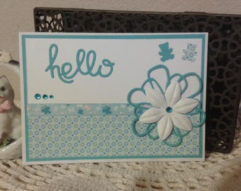 Baby blue card