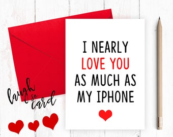 Funny anniversary card, Funny Birthday,  Boyfriend Card, Boyfriend Anniversary, funny valentines, funny rude card, Husband, for him, iPhone