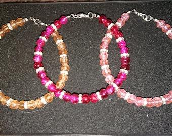 257. Bead & Rhinestone Bracelet