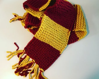 Harry Potter ASU maroon and gold cozy warm scarf