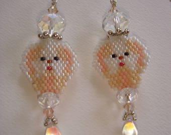 Beads myuki small dogs to pierced earrings