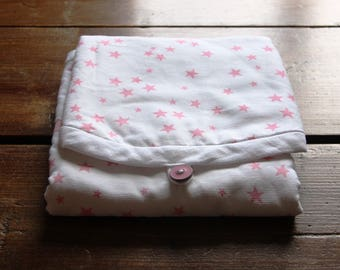 White star travel changing pad roses